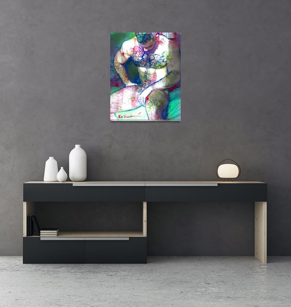 """Flower Bear Thoughtful""  (2021) by RDRiccoboni"