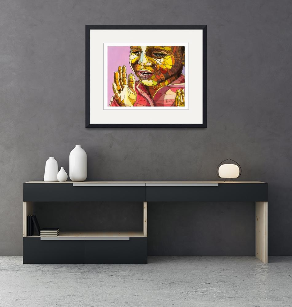 """""""Clapping African child""""  (2011) by ArtbyRobertMahosky"""