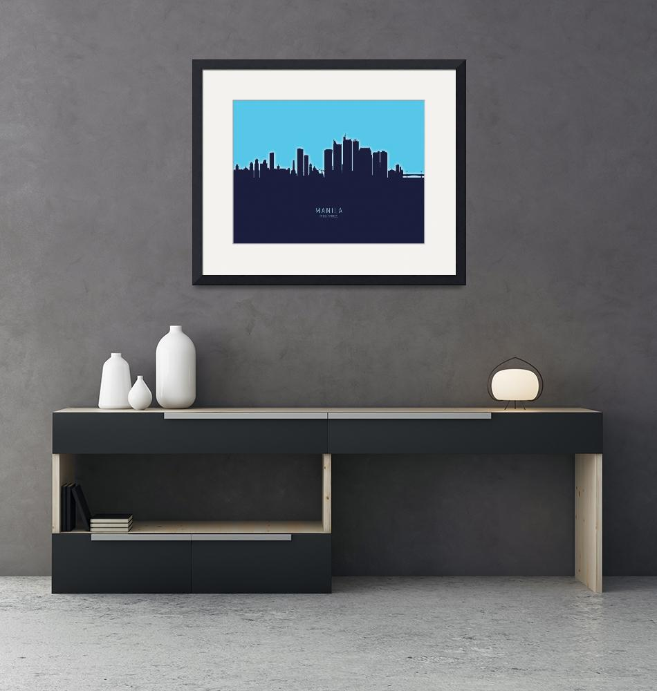 """Manila Philippines Skyline""  (2020) by ModernArtPrints"