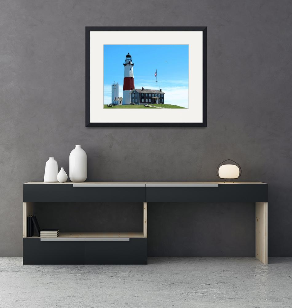 """Montauk Point Lighthouse-4""  (2015) by Ninas4otos"