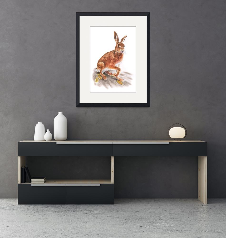 """""""Brown Hare""""  (2020) by MightyFineArt"""