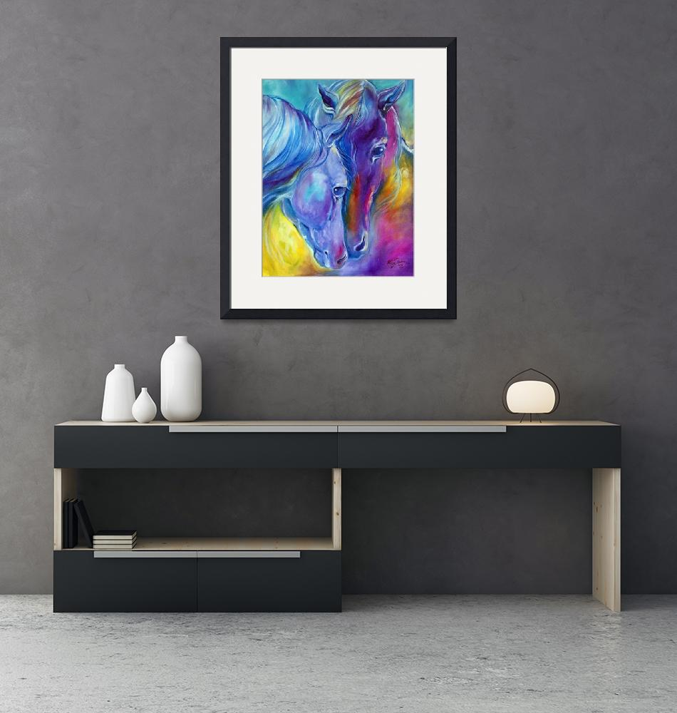 """""""LOVING SPIRITS Color My World with Horses"""" (2015) by MBaldwinFineArt2006"""