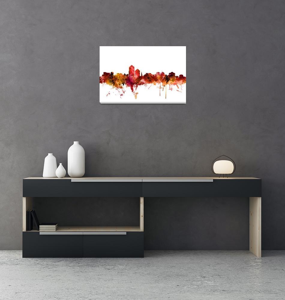 """Albuquerque New Mexico Skyline""  (2018) by ModernArtPrints"