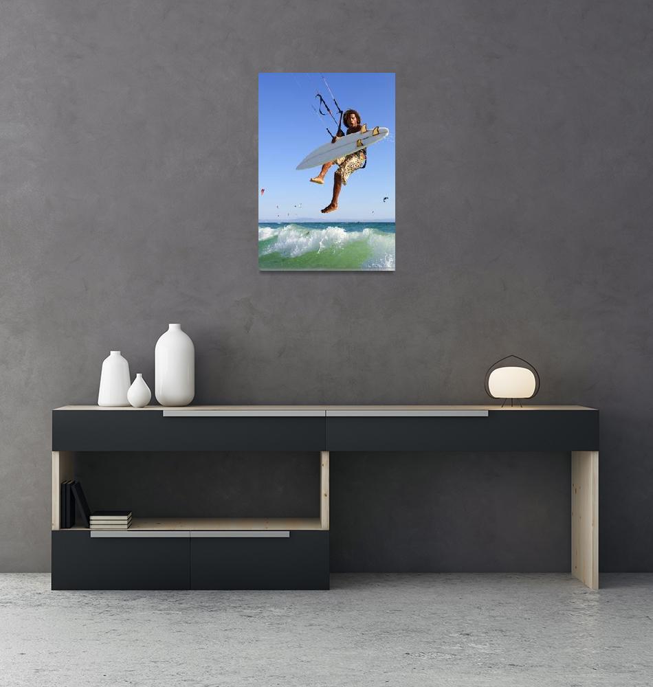 """""""Young Man Kite Surfing, Costa De La Luz, Andalusia""""  by DesignPics"""