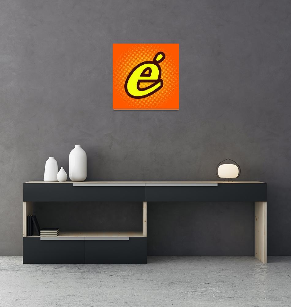 """""""E-Accent-reeses""""  by LetterPopArt"""