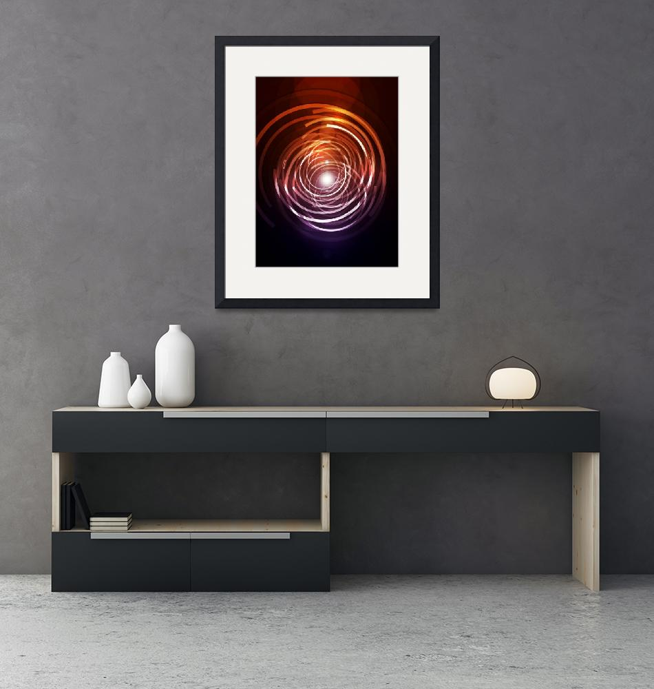 """""""Abstract Rings""""  (2010) by ModernArtPrints"""