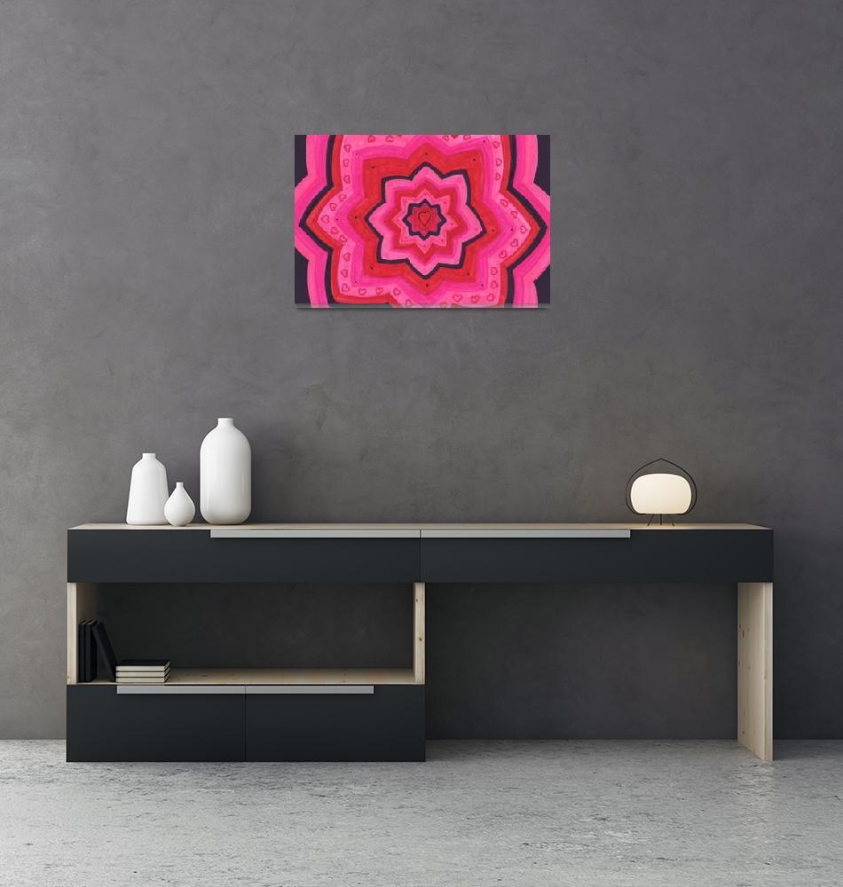 """Heart Lotus""  by Atlantis-Seeker-Art"