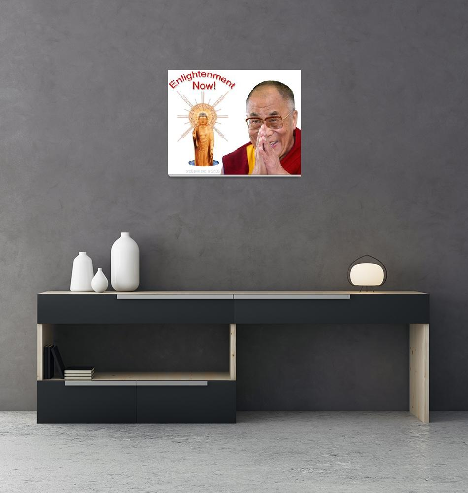 """""""Enlightenment Now! - The Dalai Lama and The Buddha""""  by proSpirit"""