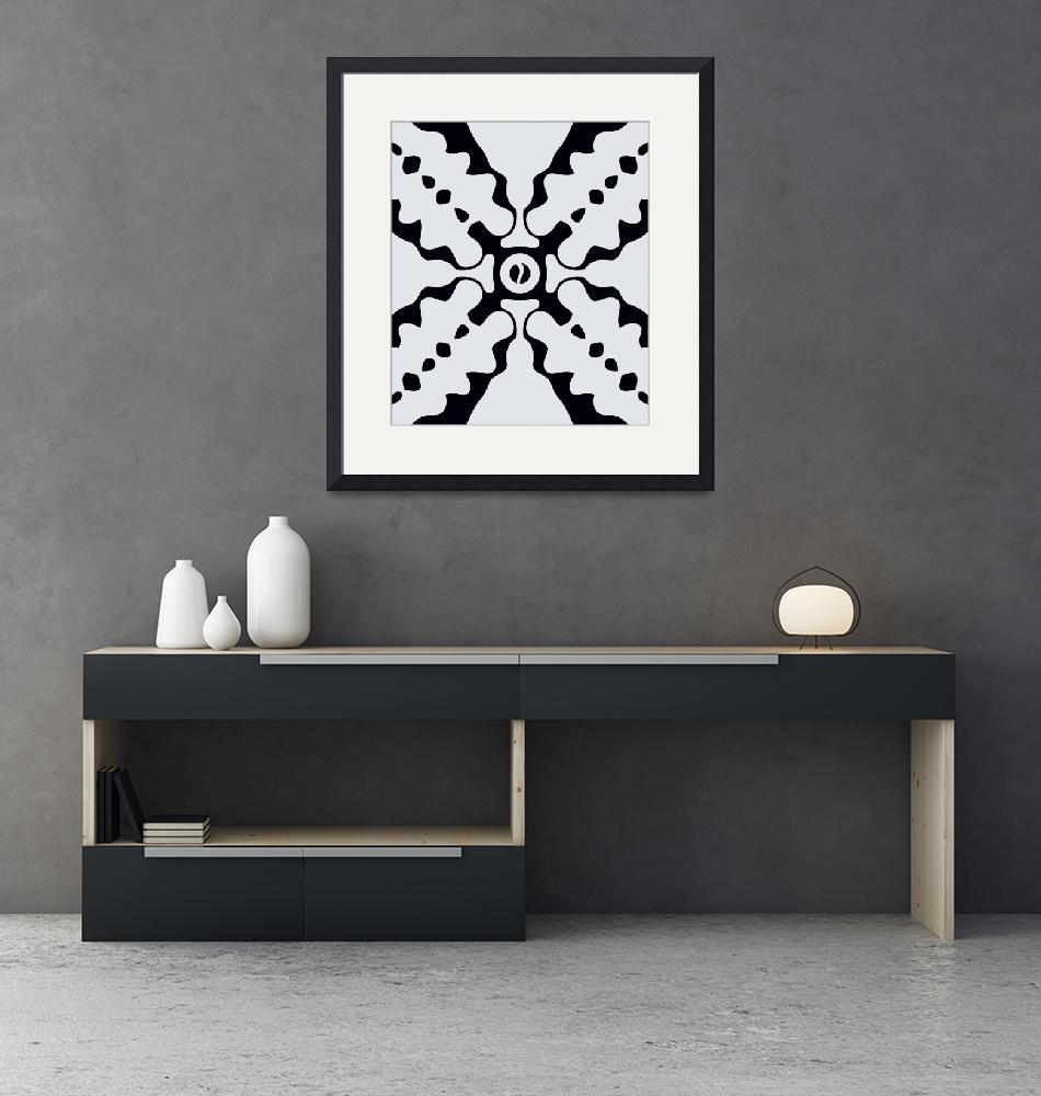 """""""Black and white abstract art""""  by Adorehandcrafted"""