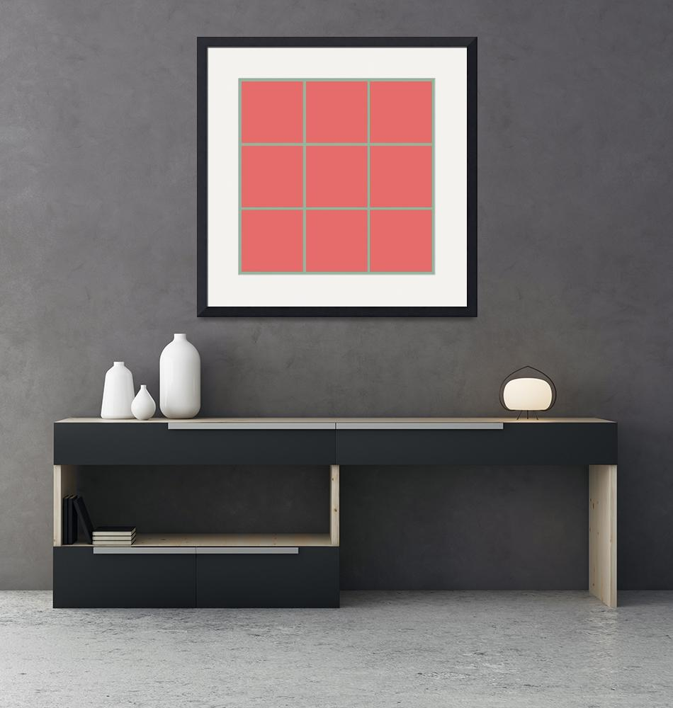 """""""Red Window 128 Canvas Contemporary Modern""""  (2010) by Ricardos"""