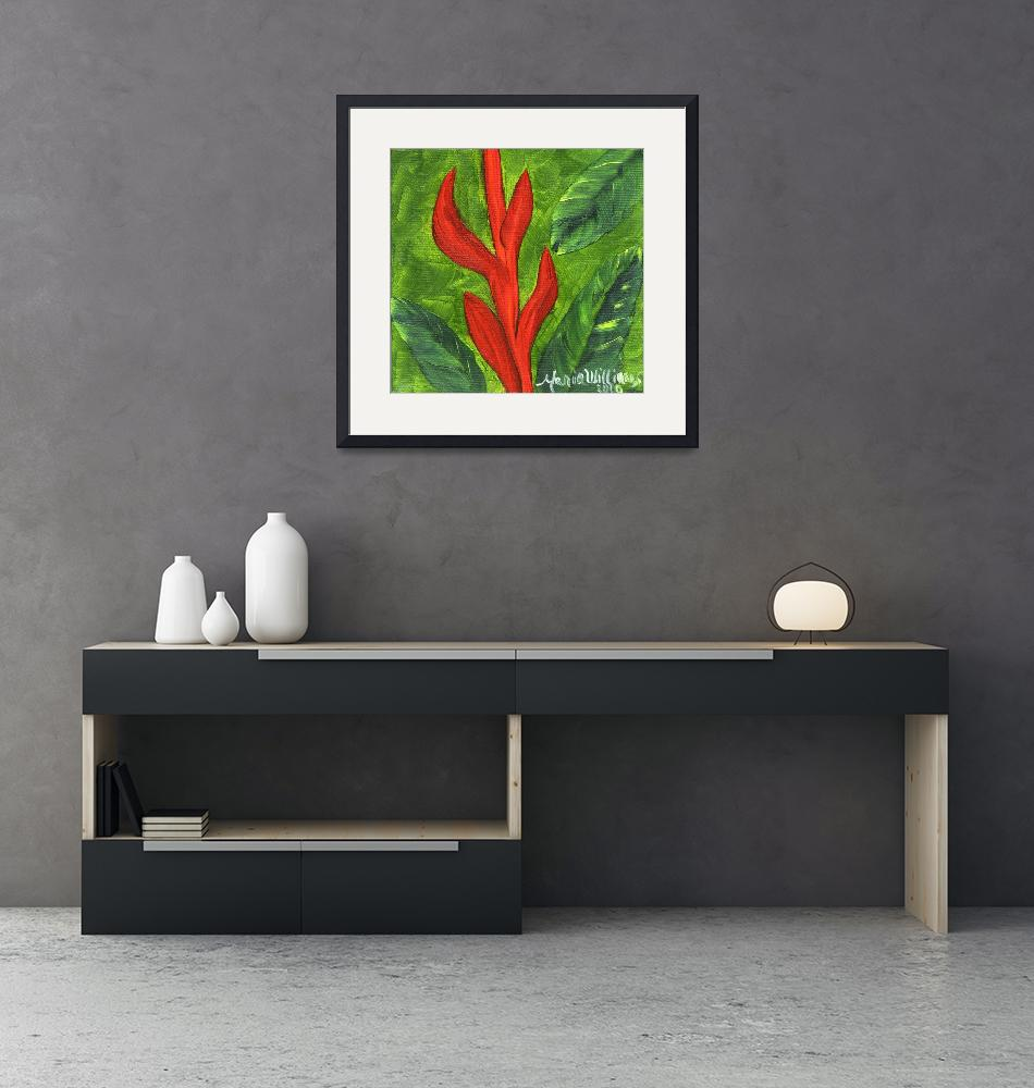 """""""Red Heliconia 2""""  (2010) by mariawilliams"""