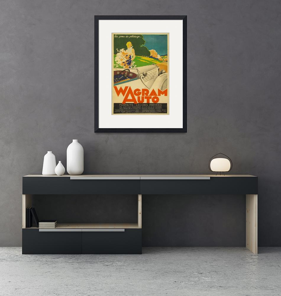 """""""Wagram Auto Vintage Poster""""  by FineArtClassics"""