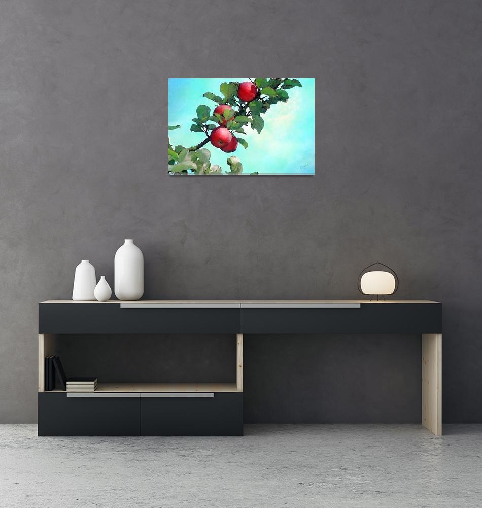 """watercolor apples""  (1988) by Pauljs"