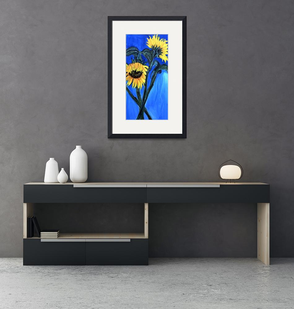 """""""sunflowers""""  (2000) by elilundpaintings"""