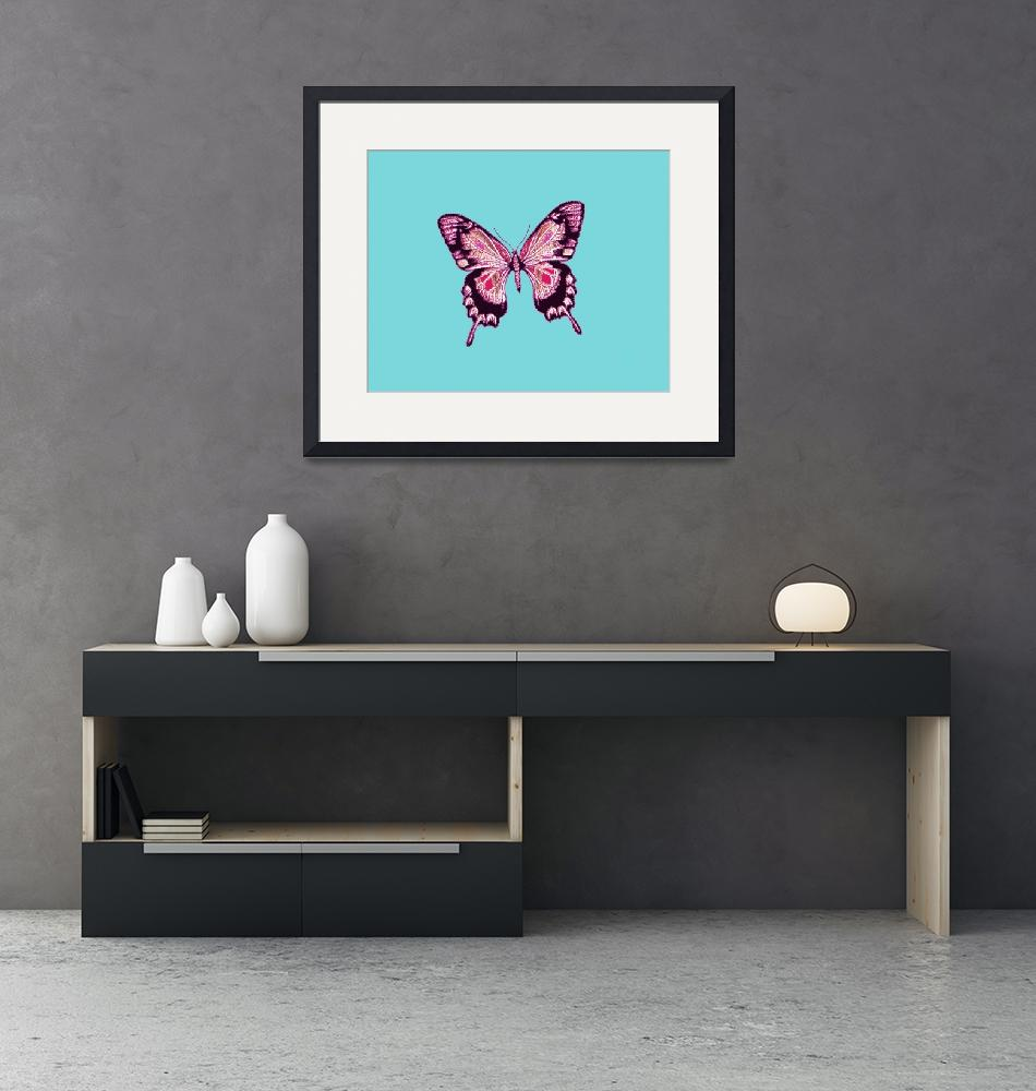 """""""Magenta Violet Black Butterfly""""  (2013) by TheNorthernTerritory"""