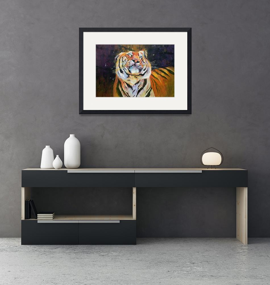 """""""Tiger (Shaking Head) by Odile Kidd""""  by fineartmasters"""