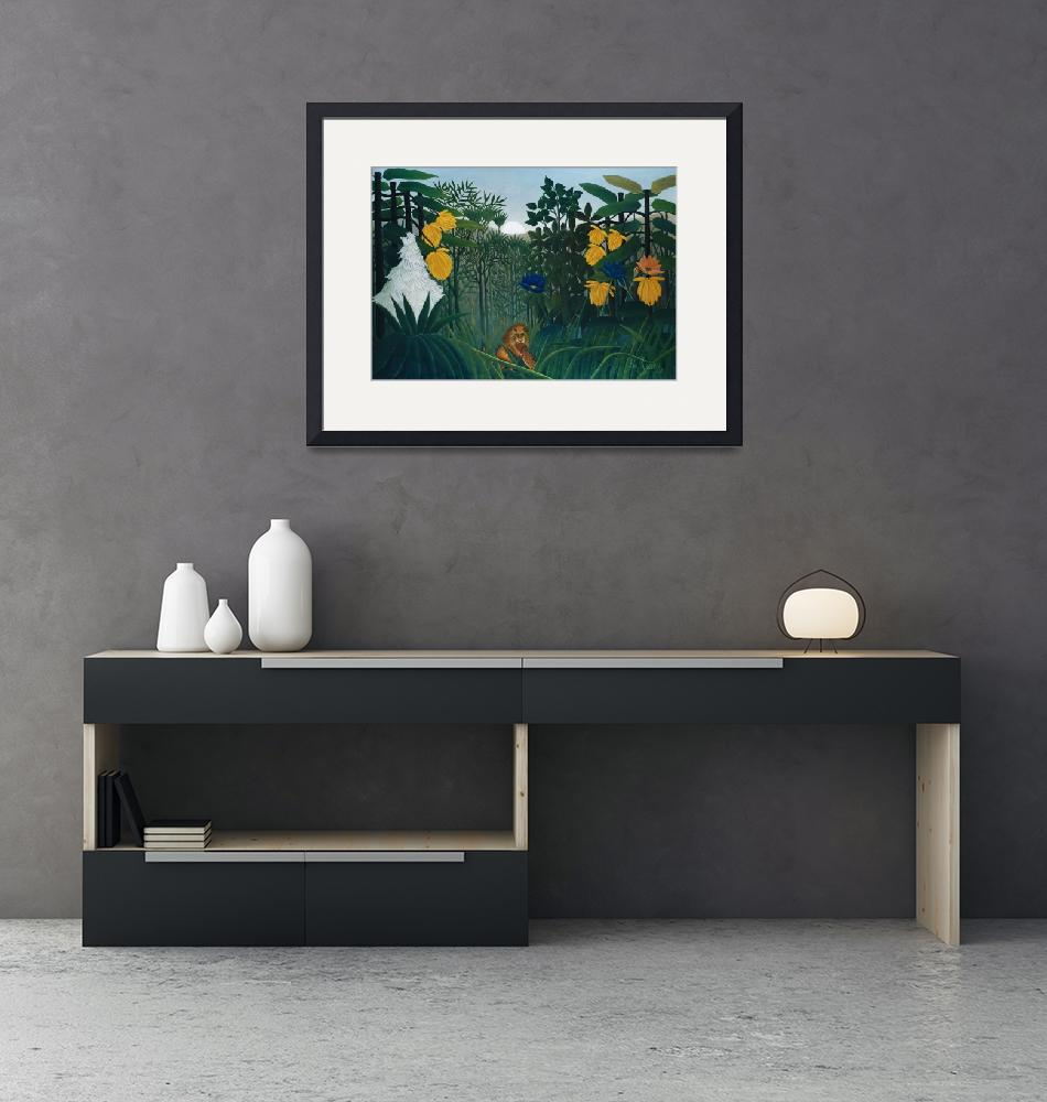 """""""The Repast of the Lion by Henri Rousseau"""" by FineArtClassics"""
