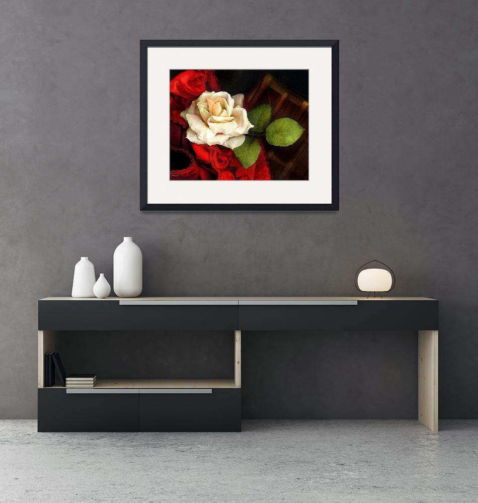 """VINTAGE ROSE #1""  (2007) by carrollgraphix"