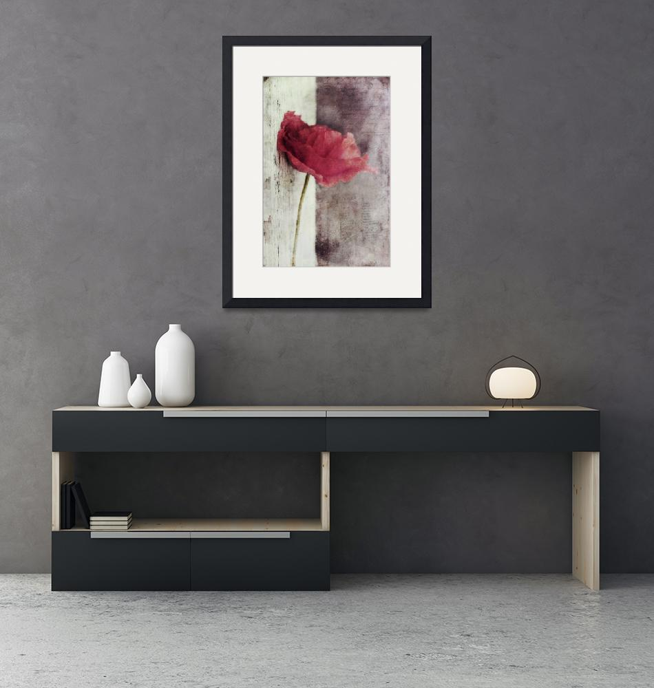"""decor poppy vertical""  (2013) by Piri"
