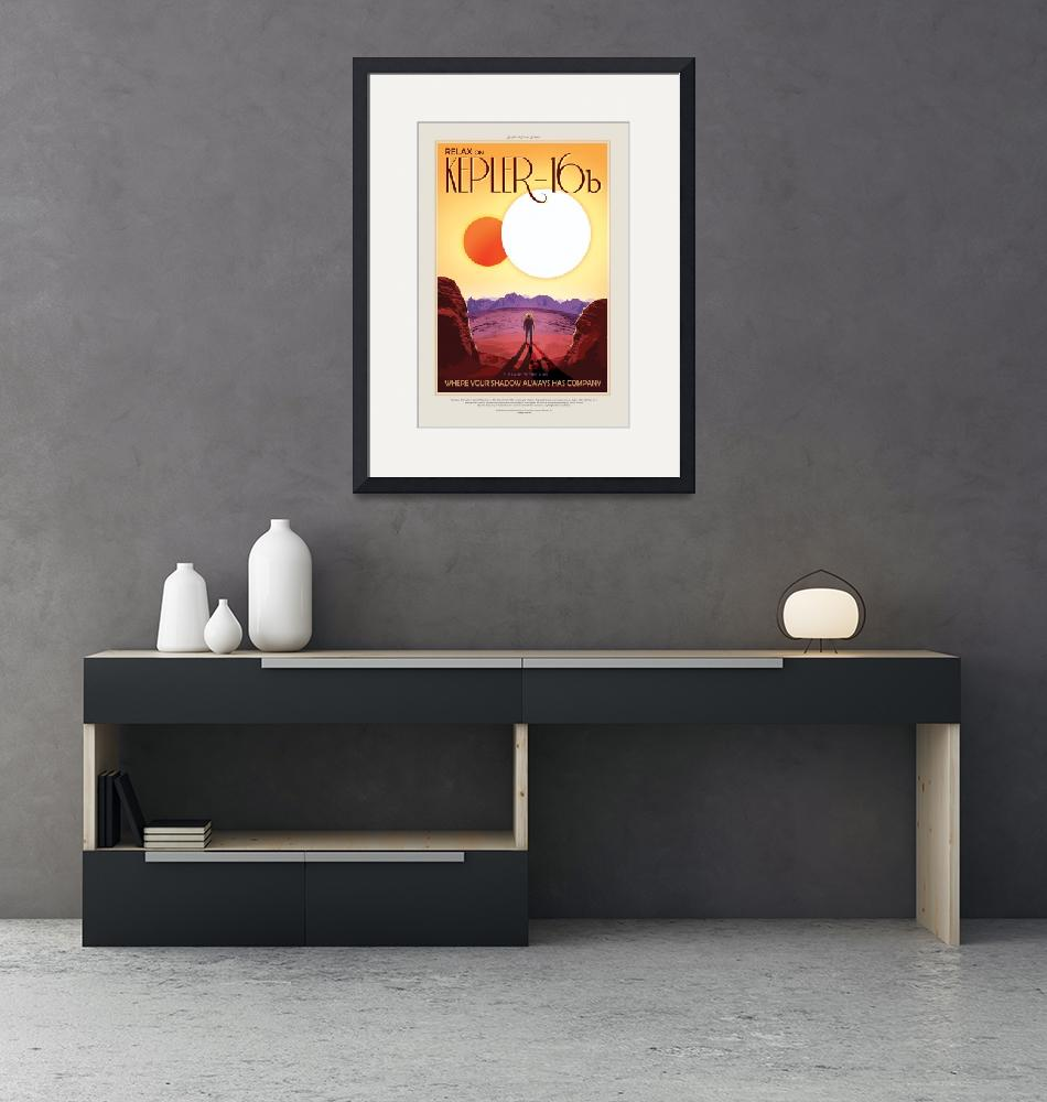 """NASA Kepler-16b Space Travel Poster""  by FineArtClassics"