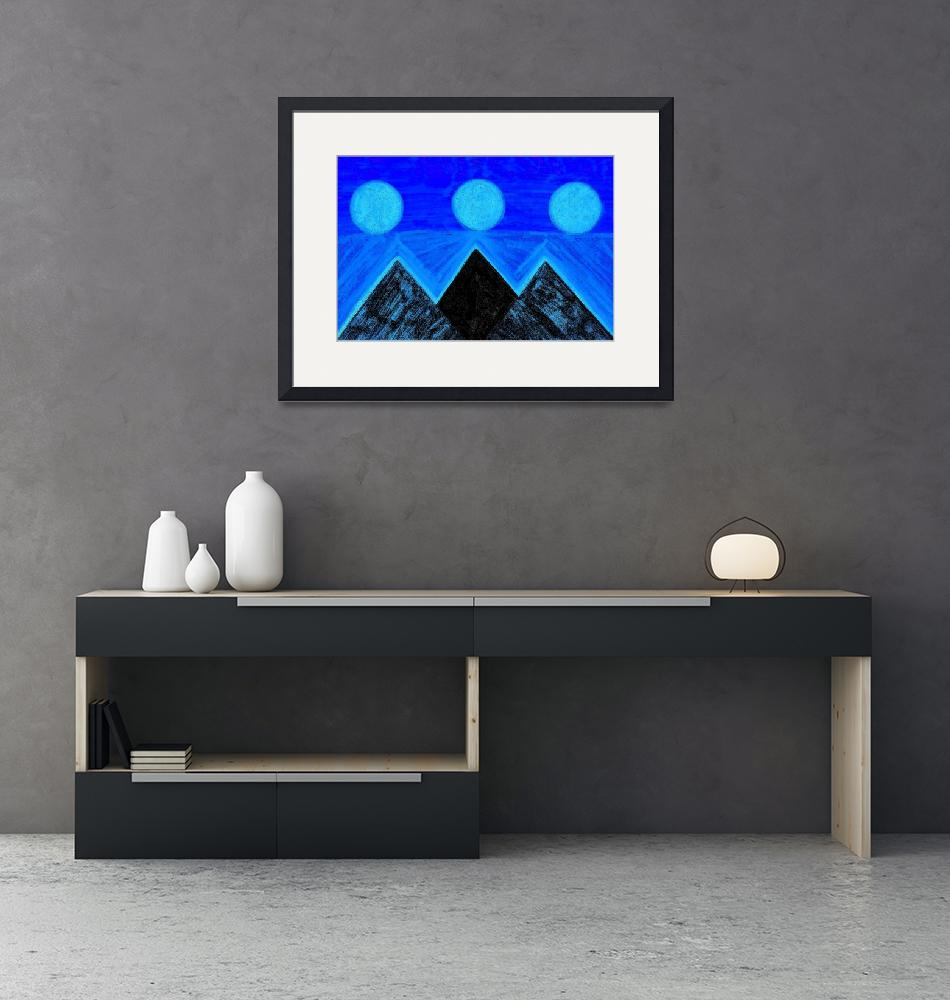"""""""Pyramids Of Other Worlds: Blue Moons""""  by Atlantis-Seeker-Art"""