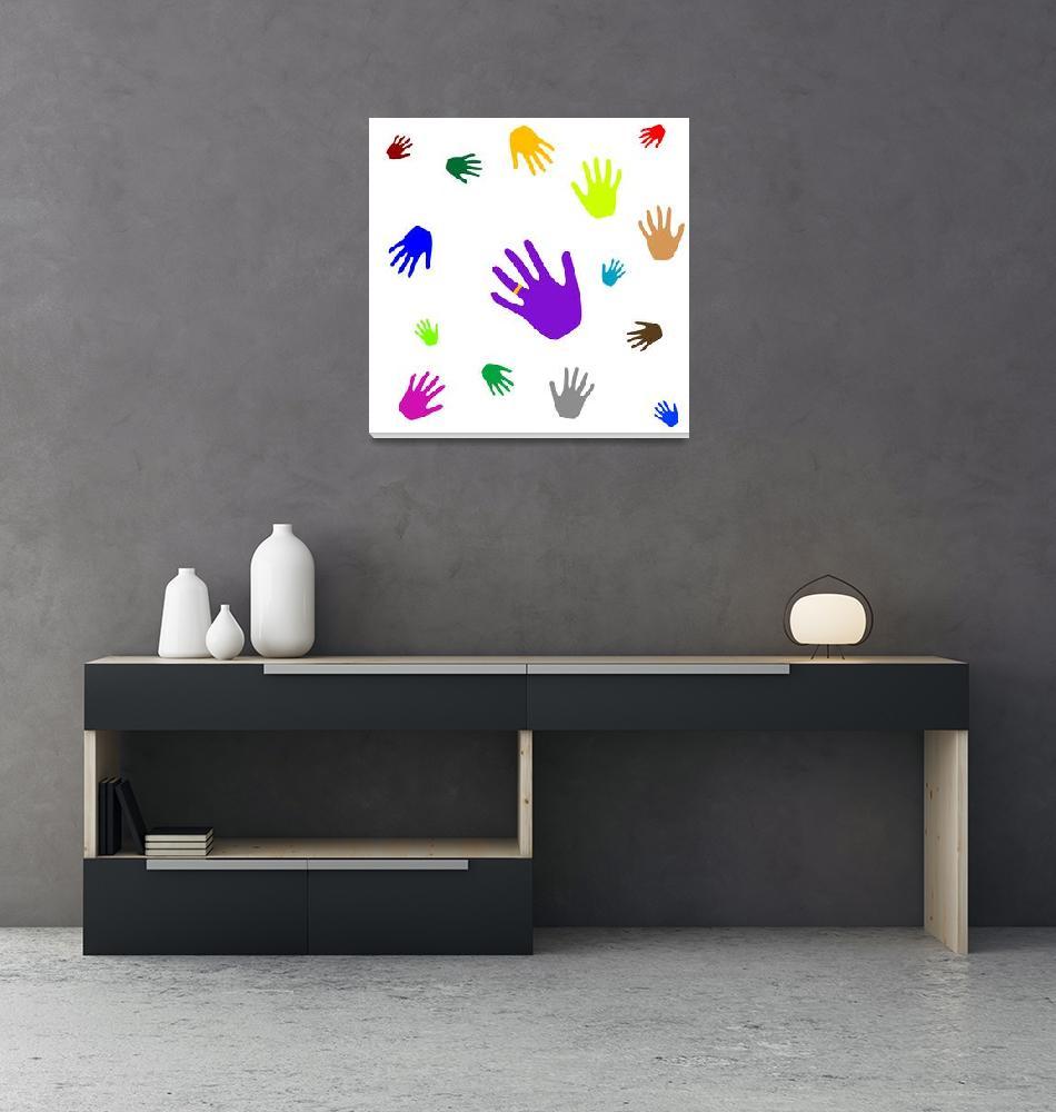 """colored hands""  by robertosch"