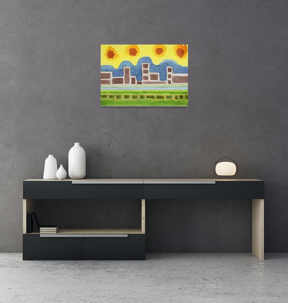 """""""Surreal Simplified Cityscape""""  (2013) by HeidiCapitaine"""