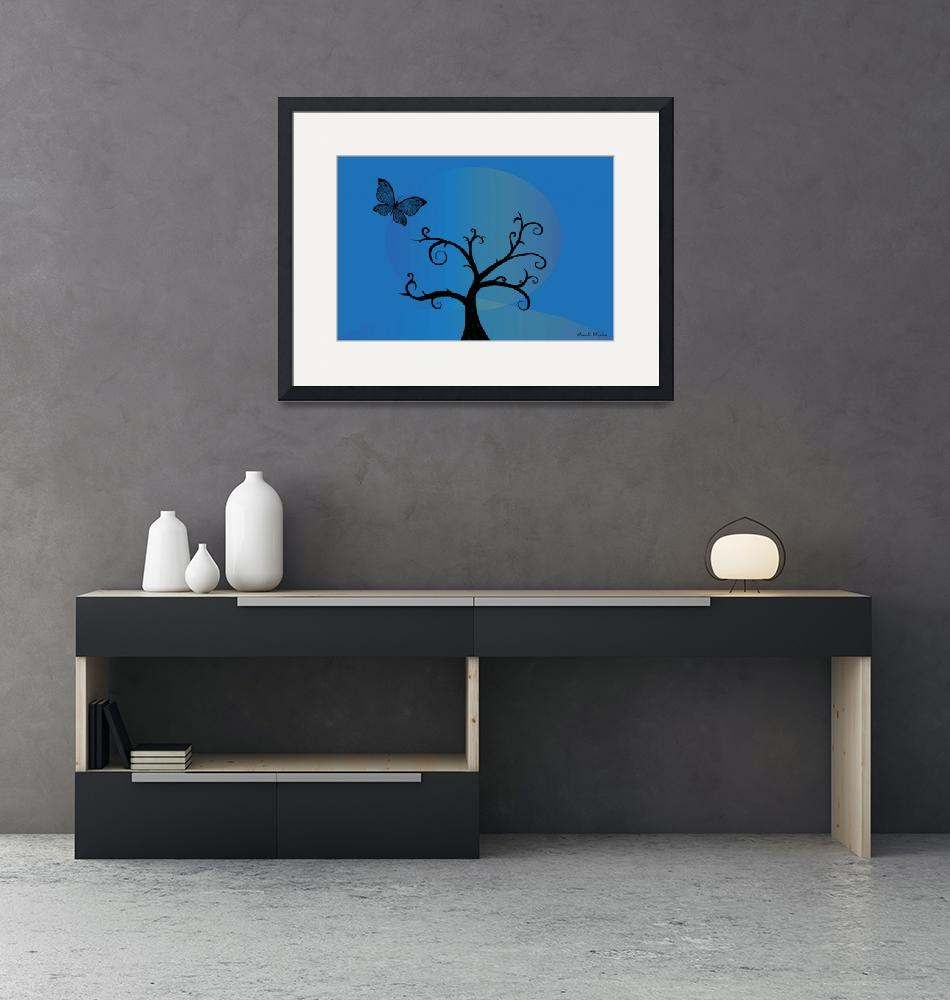"""Last Tree Standing - Blue""  (2008) by ProvencalDesigns"