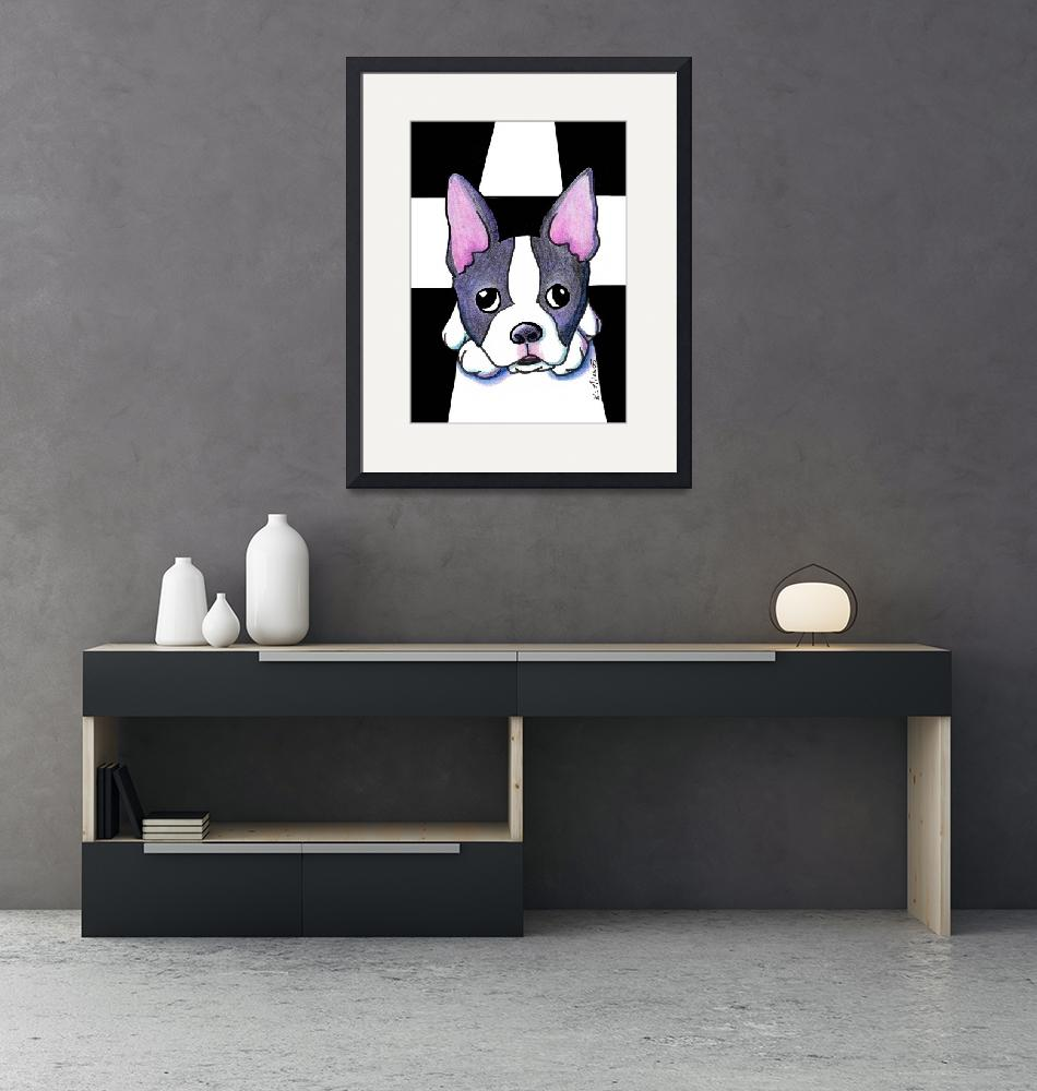 """Boston Terrier""  (2005) by KiniArt"