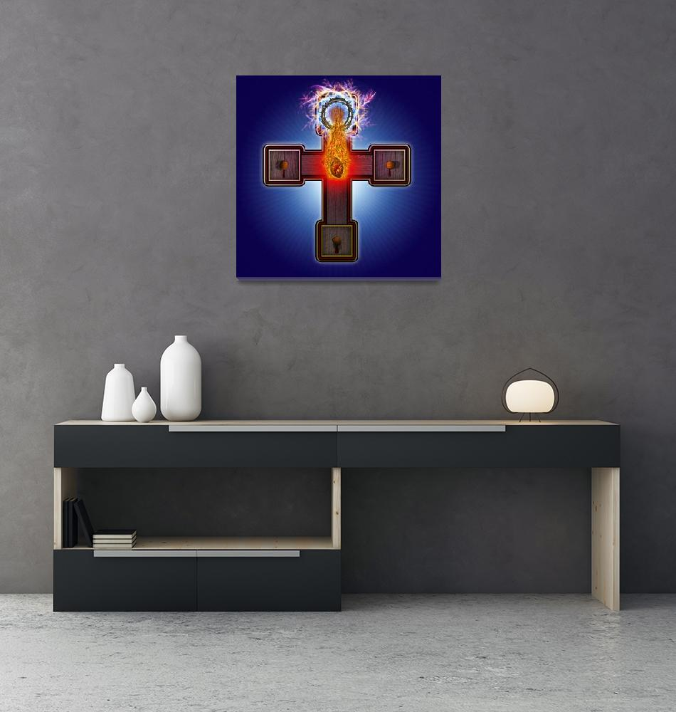 """Atomic Crucifix""  (2011) by ATOMICPENCIL"