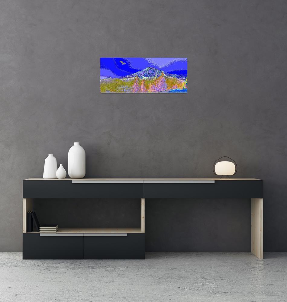 """Mt. Rainier Bald Eagle Enhanced""  (2013) by TheNorthernTerritory"