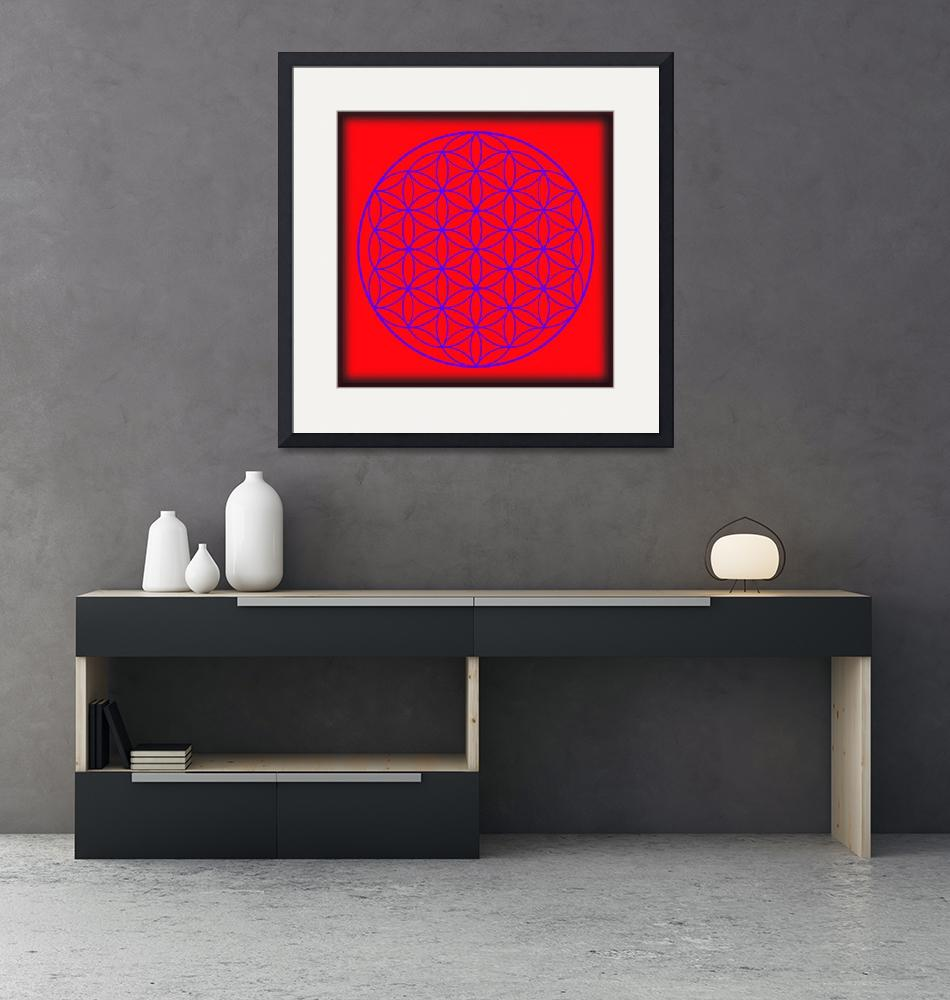 """Flower of Life in Red & Purple""  (2015) by MARIF"