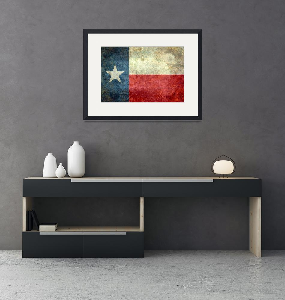 """The ""Lone Star Flag"" of Texas""  (2013) by BruceStanfieldArtist"