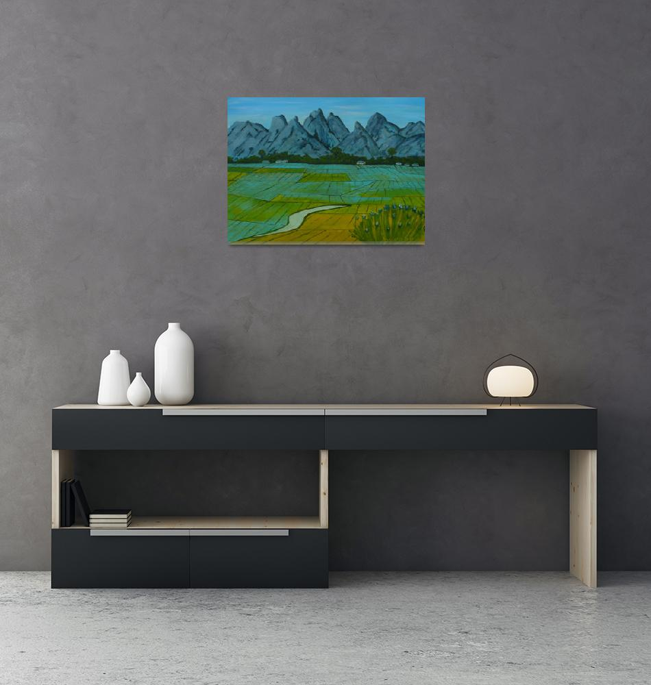 """""""Rice Fields""""  (2012) by anthonydunphy"""