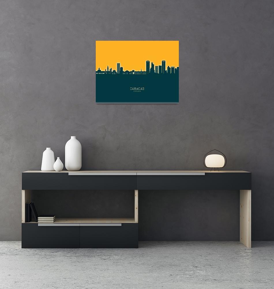 """""""Caracas Venezuela Skyline""""  (2020) by ModernArtPrints"""