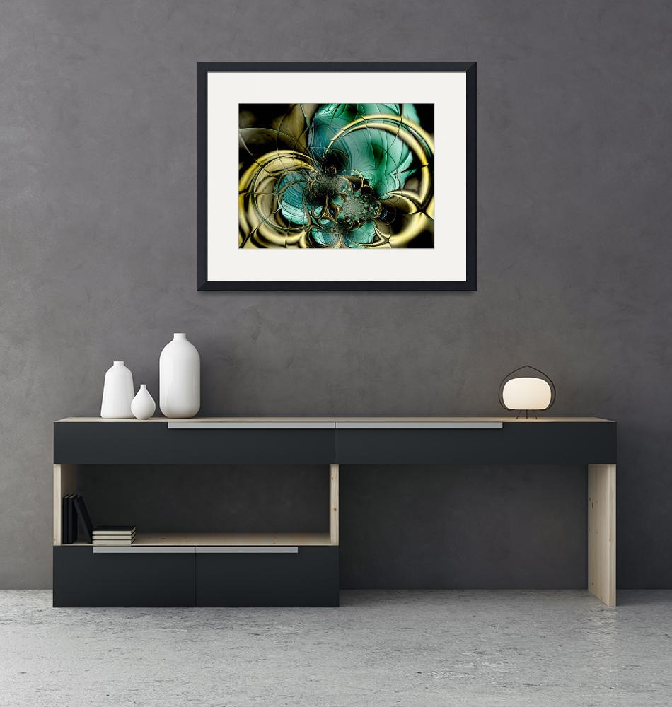 """""""Metal Gold Teal Glass"""" (2009) by shanmaree"""