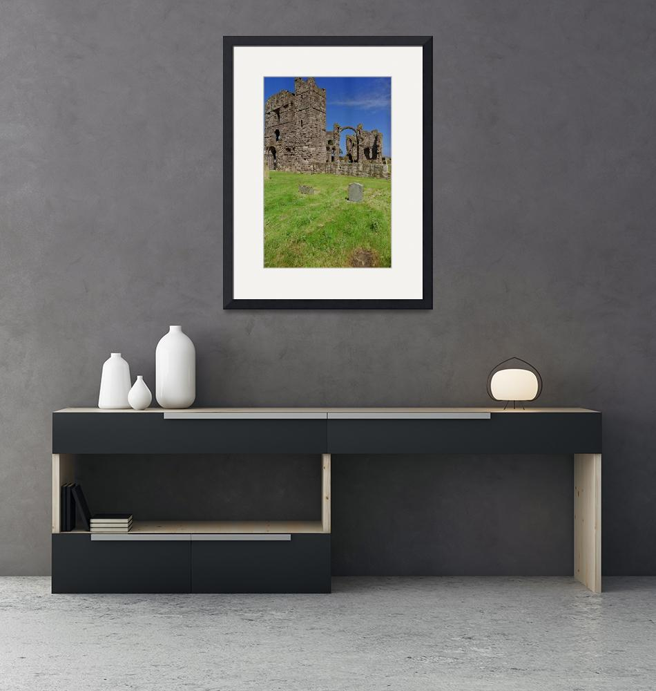 """""""Ruins on Holy Island""""  (1993) by PriscillaTurner"""