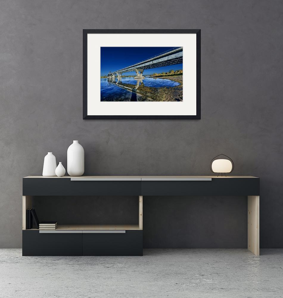 """Champlain Bridge crossing over Lake Champlain""  (2014) by New-Yorkled"
