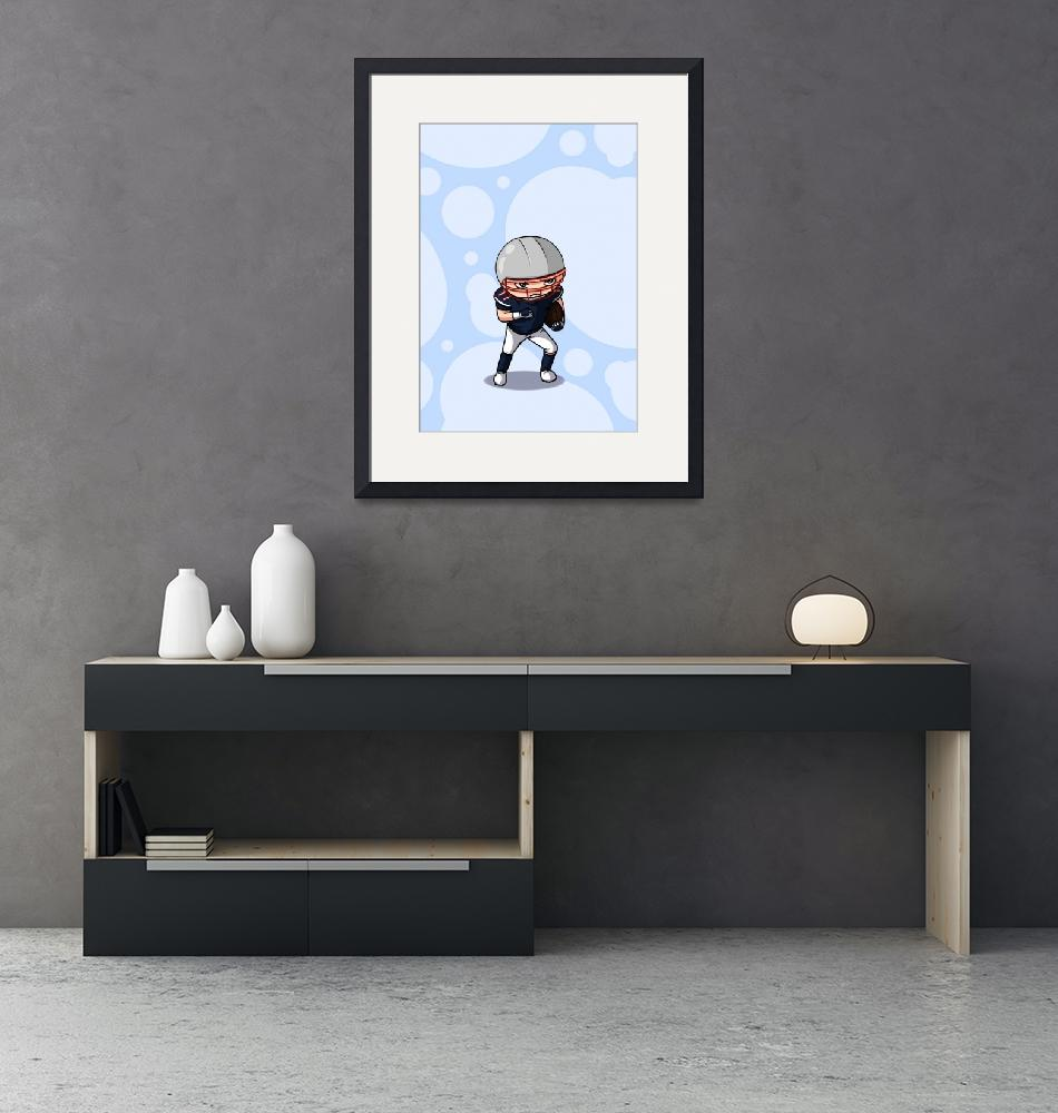 """""""Football player (background)""""  (2011) by artbymike"""