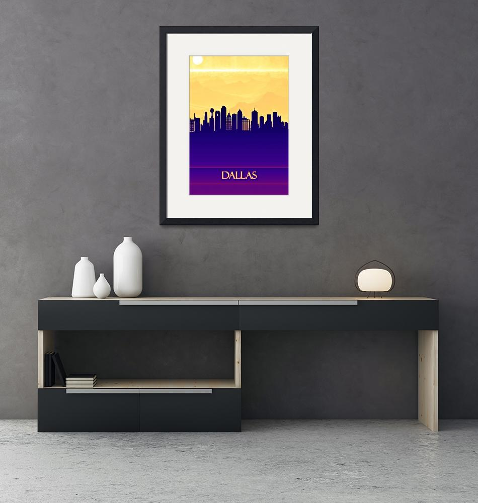 """""""Dallas City Skyline""""  by Towseef"""
