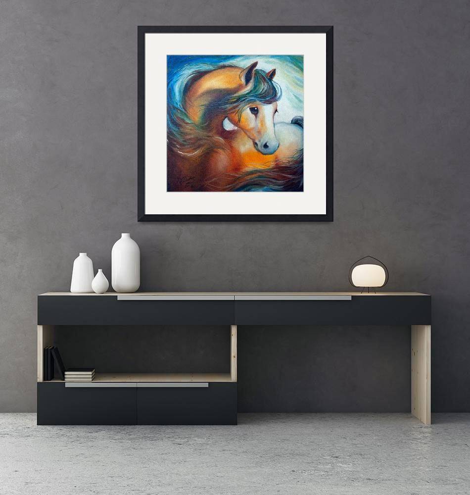 """""""WENDY my HORSE large file""""  (2018) by MBaldwinFineArt2006"""