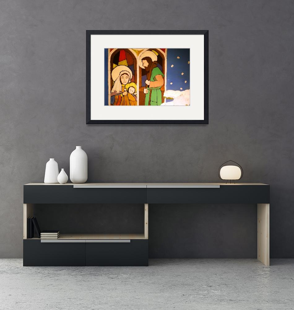 """Holy Family by George Wood""  (1976) by KsWorldArt"