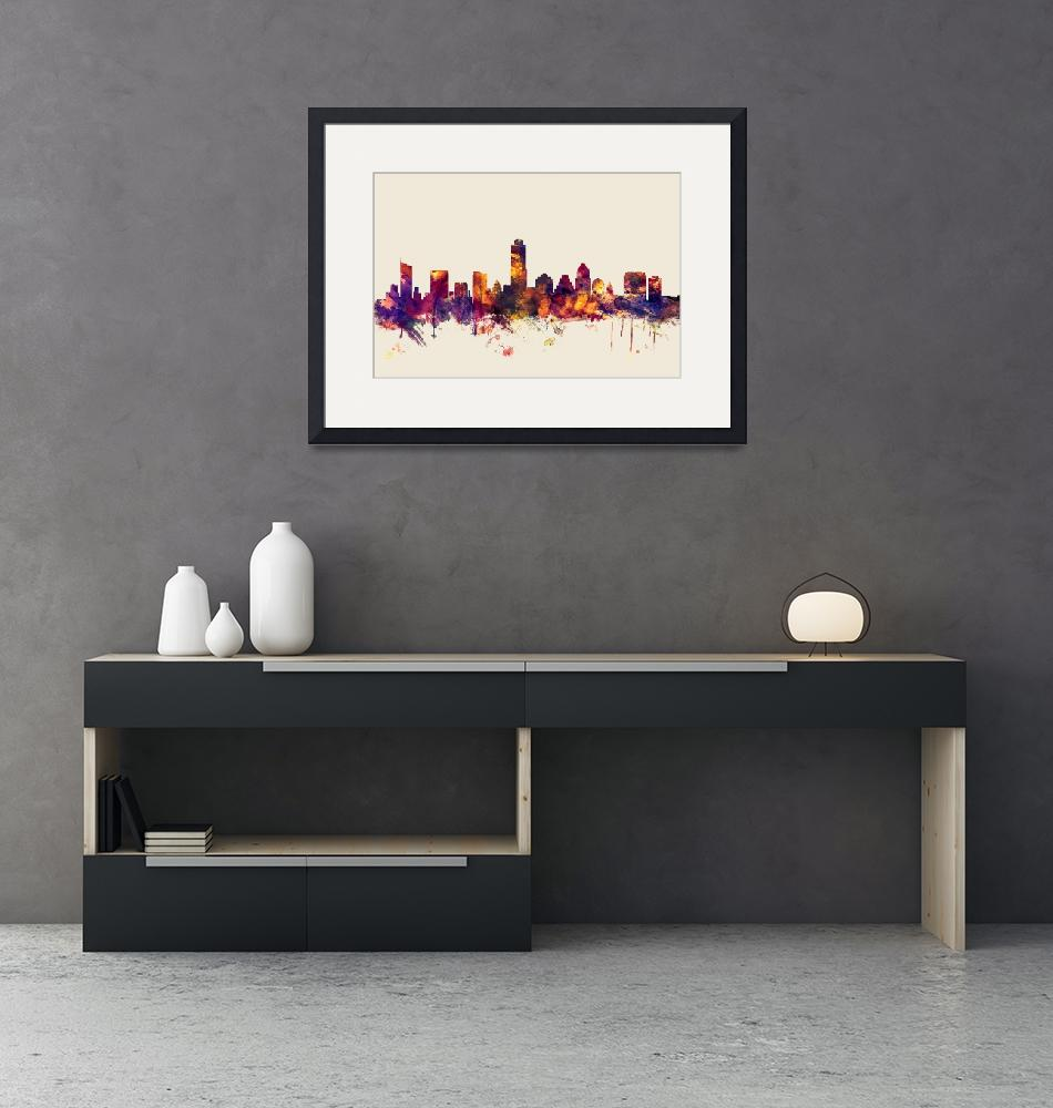"""Austin Texas Skyline""  (2015) by ModernArtPrints"