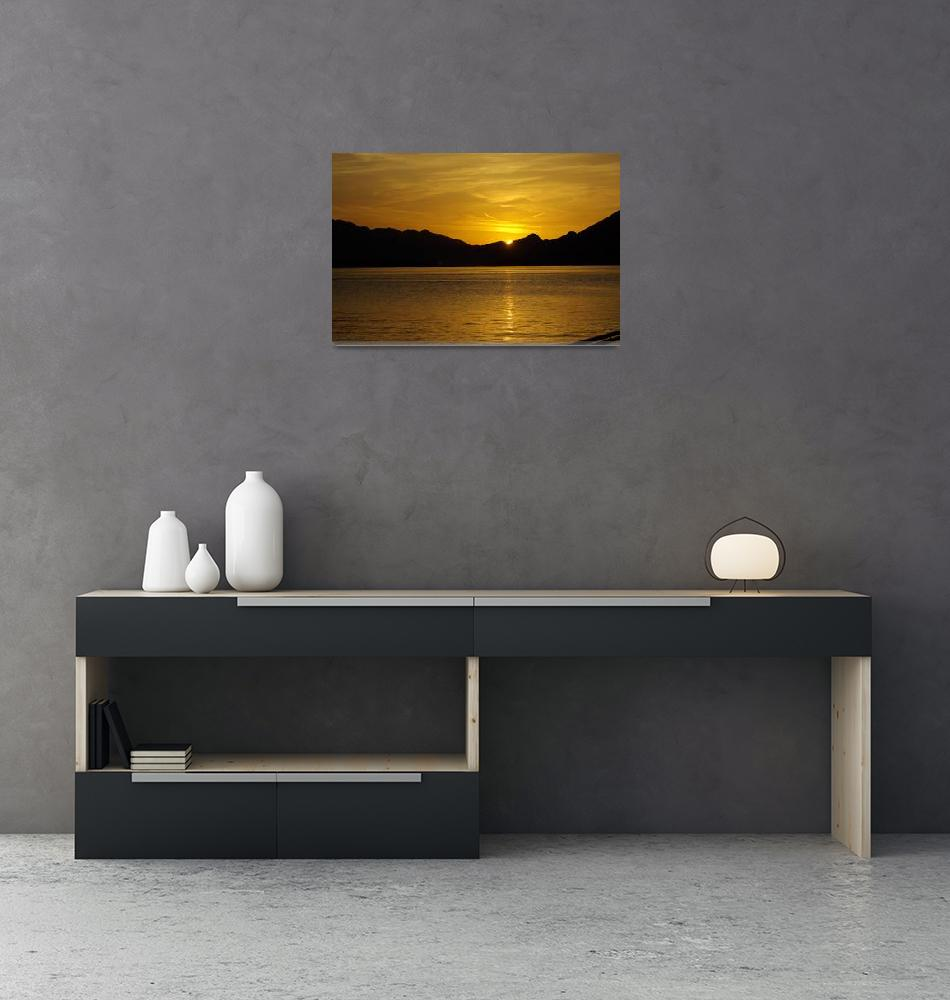 """Sunset over Lake Wolfgang, Austria""  (2010) by loversdream"
