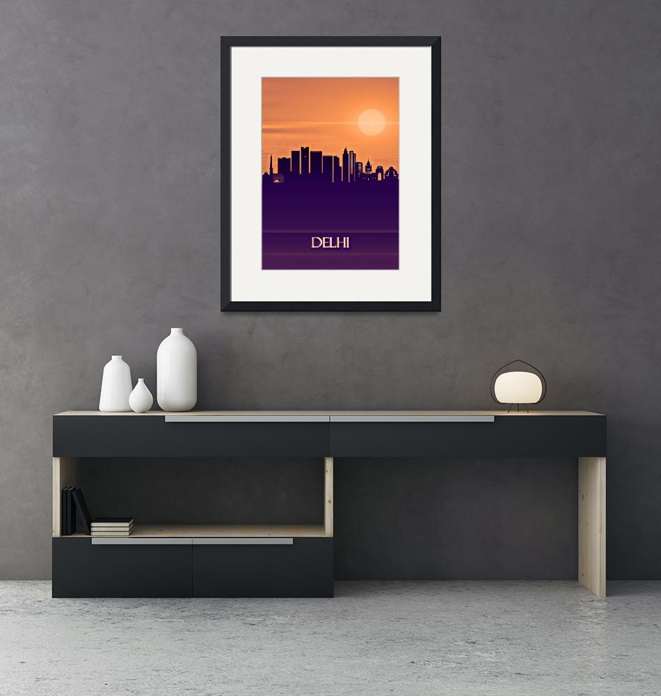 """""""Delhi City Skyline""""  by Towseef"""