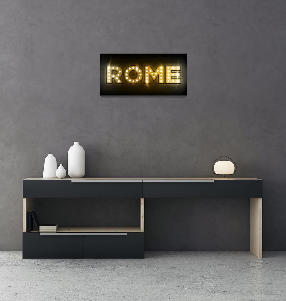 """""""Rome in Lights""""  (2011) by ModernArtPrints"""