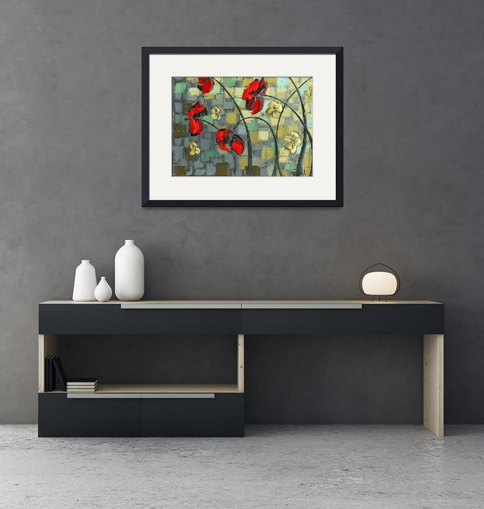 """""""Red Poppies 1"""" (2010) by modernhouseart"""