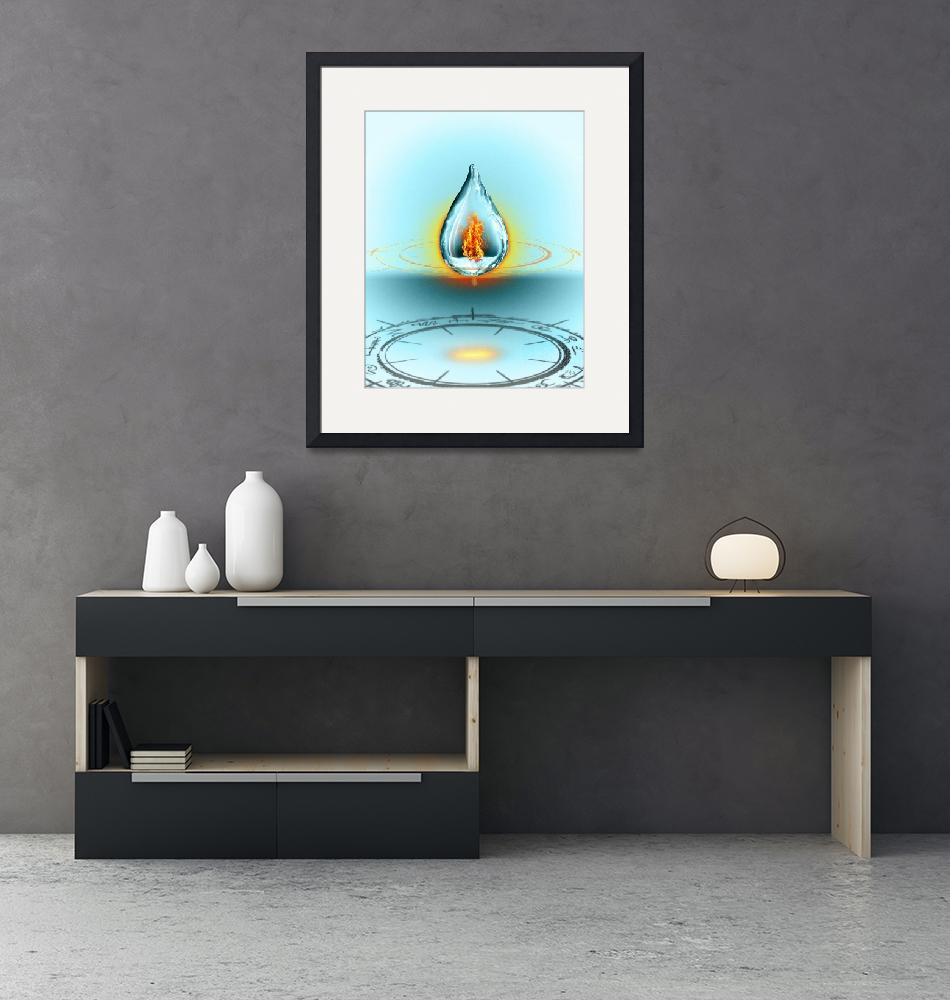"""""""Flame Water""""  (2012) by MichaelAMorel"""