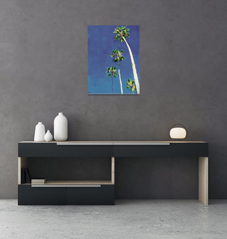 """Little Piece of Heaven, Palm Trees by Riccoboni ,""  (2007) by RDRiccoboni"