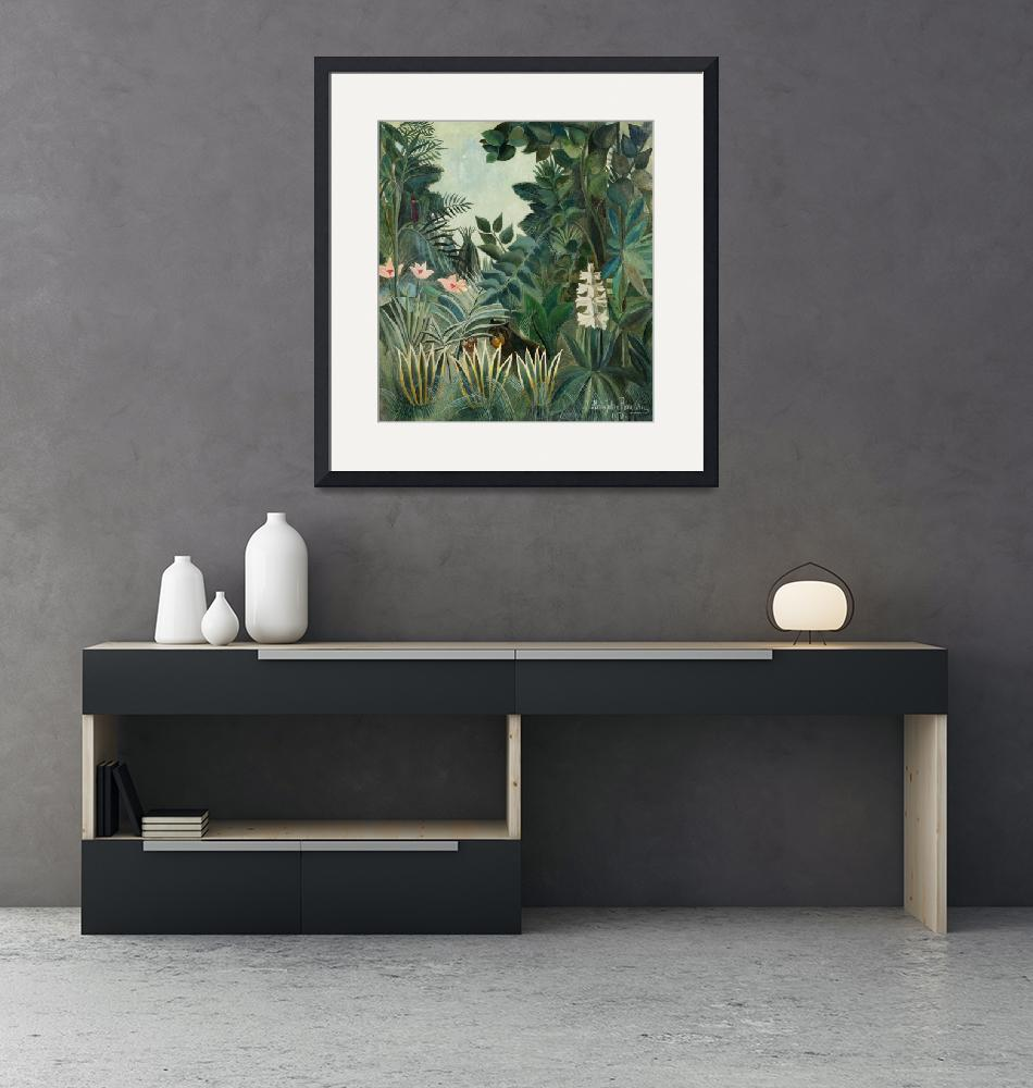 """The Equatorial Jungle by Henri Rousseau""  by FineArtClassics"